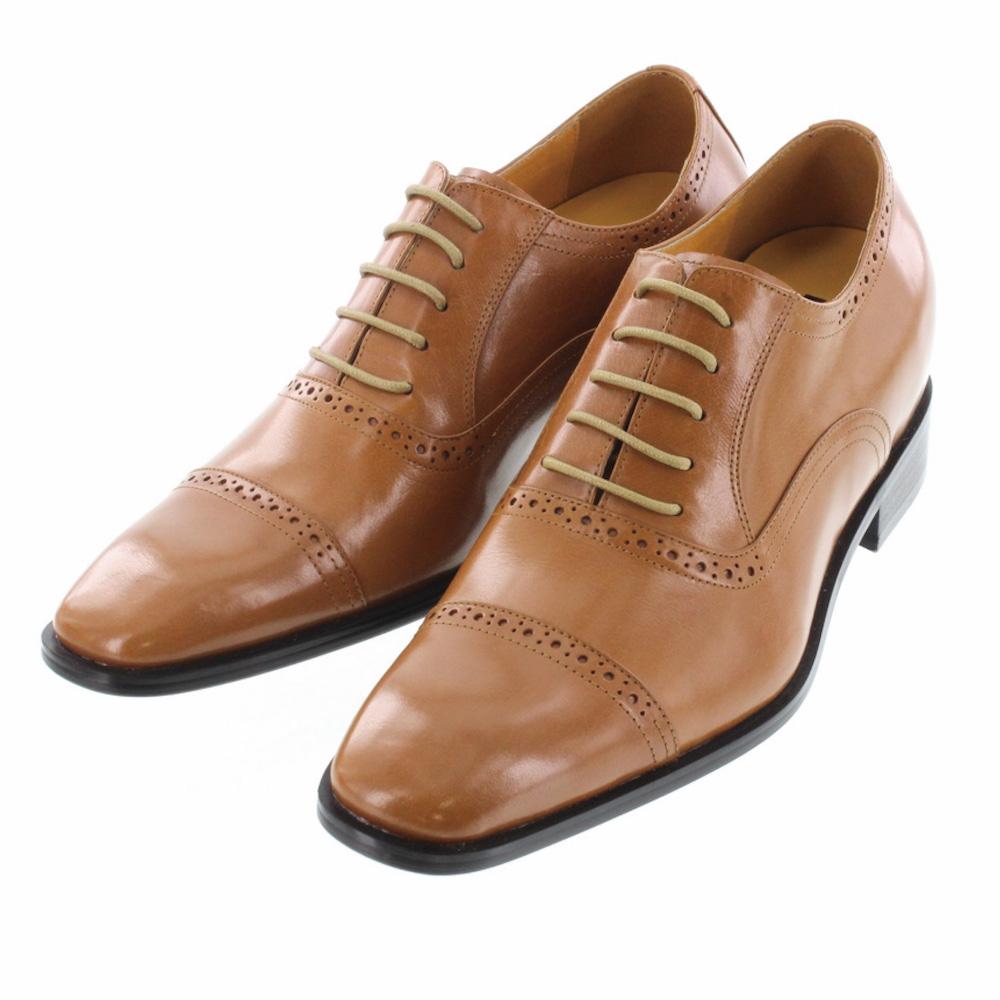 【7cmUP】 +7cmUP シークレットシューズ 7_biz_002 ビジネスタイプ ビジネスシューズ 靴 結婚式 本革 7cm背が高くなる シークレットブーツ シークレット メンズ ブラウン 紐靴