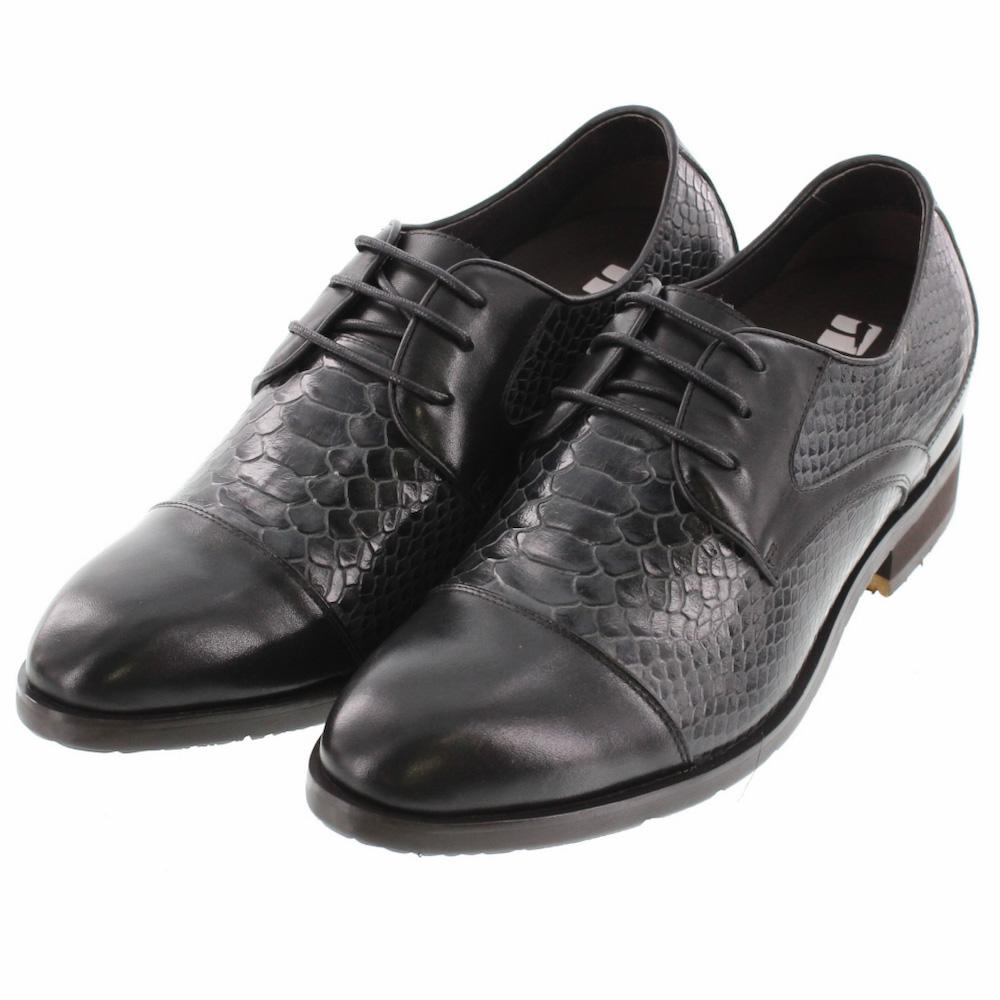 【7cmUP】+7cmUP シークレットシューズ 7_biz_005 ビジネスタイプ ビジネスシューズ 靴 結婚式 本革 7cm背が高くなる シークレットブーツ シークレット メンズ ブラック 紐靴