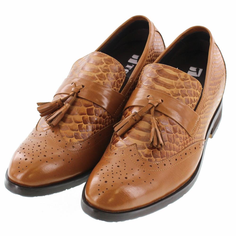 【7cmUP】+7cmUP シークレットシューズ 7_biz_006 ビジネスタイプ ビジネスシューズ 靴 結婚式 本革 7cm背が高くなる シークレットブーツ シークレット メンズ ブラウン