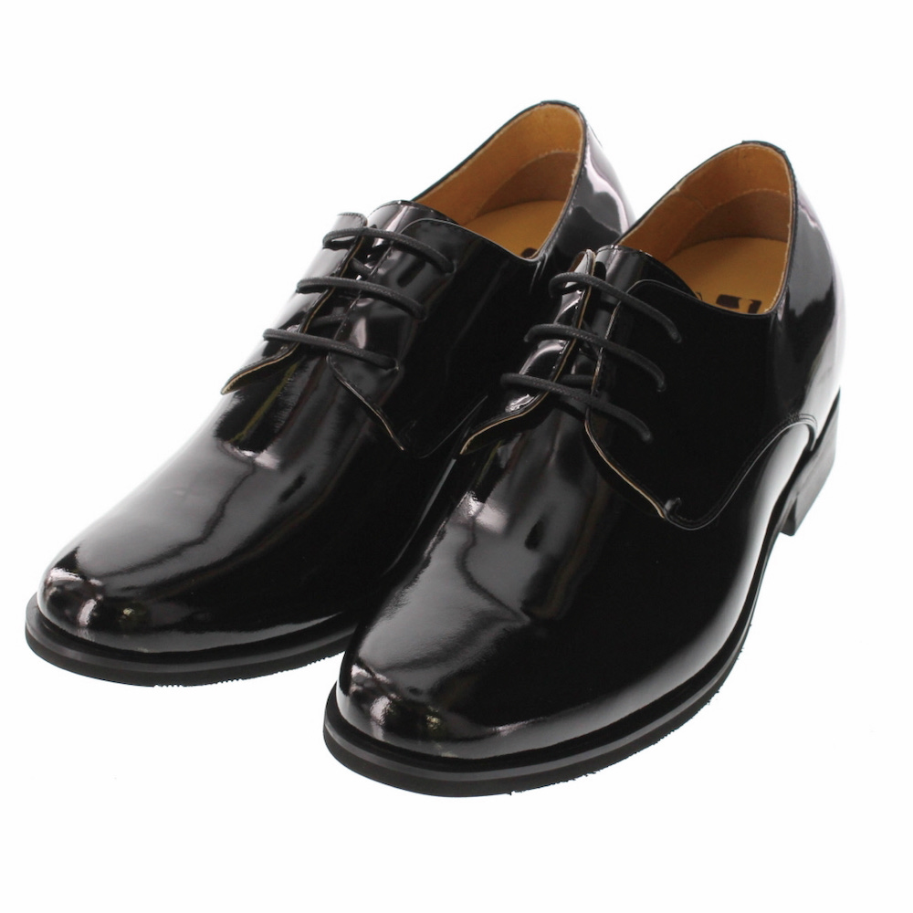 【7cmUP】 +7cmUP シークレットシューズ 7_biz_008 ビジネスタイプ ビジネスシューズ 靴 結婚式 本革 7cm背が高くなる シークレットブーツ シークレット メンズ ブラック 黒 紐靴