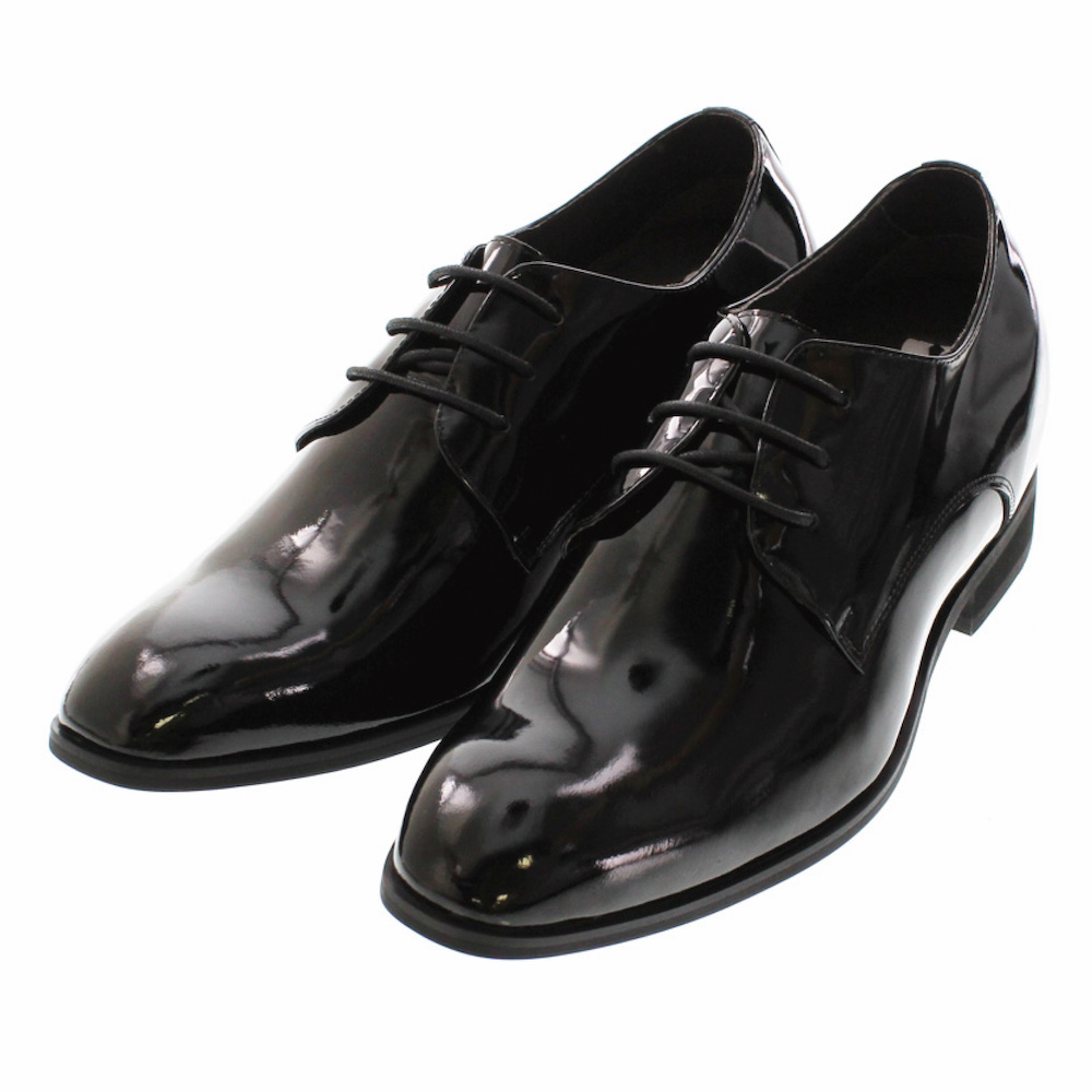 【7cmUP】 +7cmUP シークレットシューズ 7_biz_009 ビジネスタイプ ビジネスシューズ 靴 結婚式 本革 7cm背が高くなる シークレットブーツ シークレット メンズ ブラック 黒 紐靴