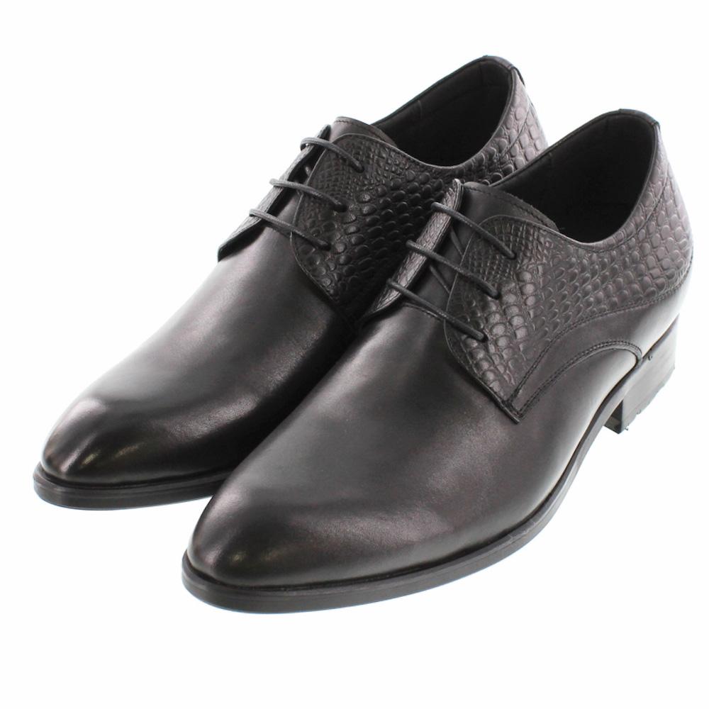 【7cmUP】 シークレットシューズ ビジネスタイプ 7_biz_018 ビジネスシューズ 靴 結婚式 本革 7cm身長が高くなる シークレットブーツ シークレット メンズ ブラウン ストレートチップ 紐靴