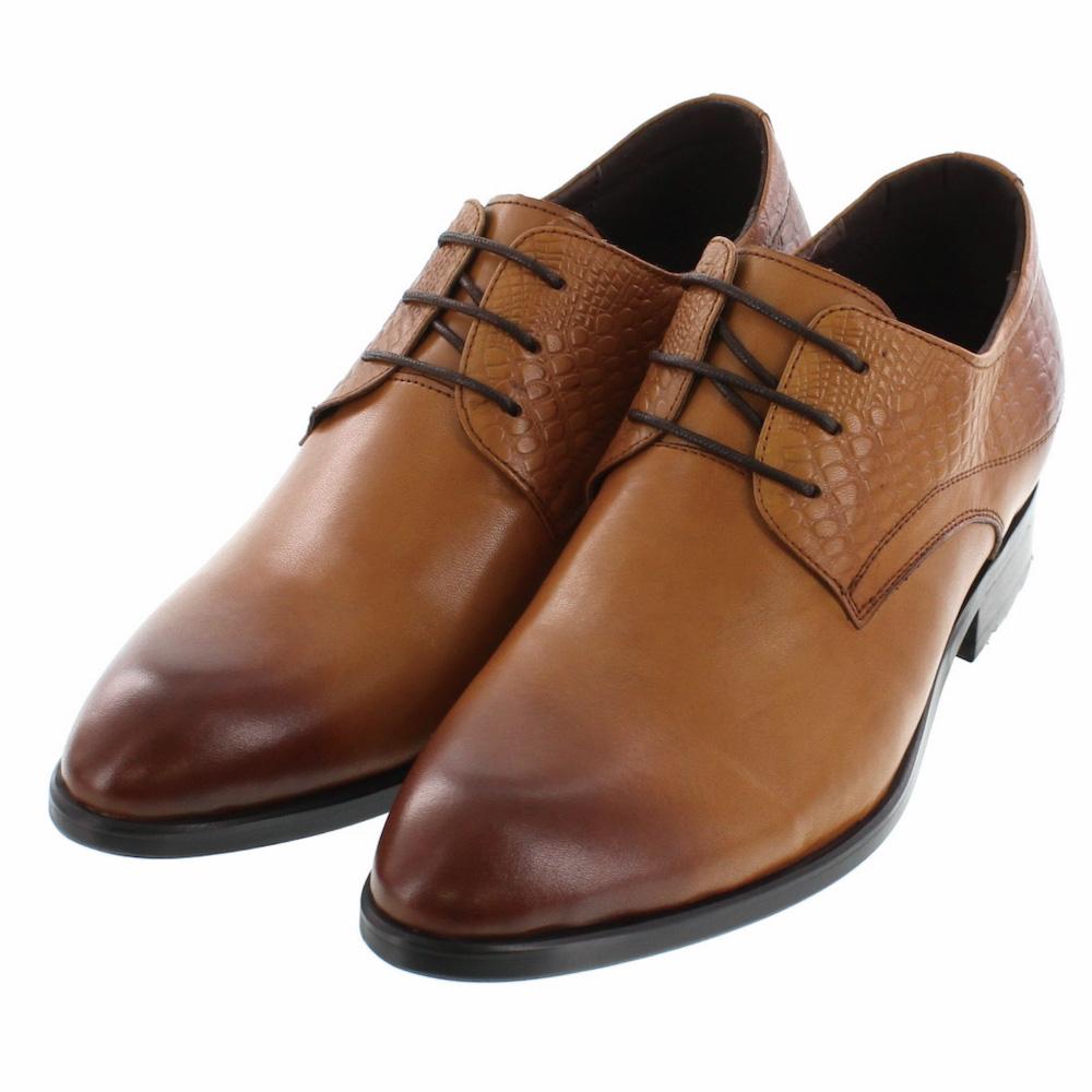 【7cmUP】 +7cmUP シークレットシューズ 7_biz_019 ビジネスタイプ ビジネスシューズ 靴 結婚式 本革 7cm背が高くなる シークレットブーツ シークレット メンズ ブラウン 紐靴