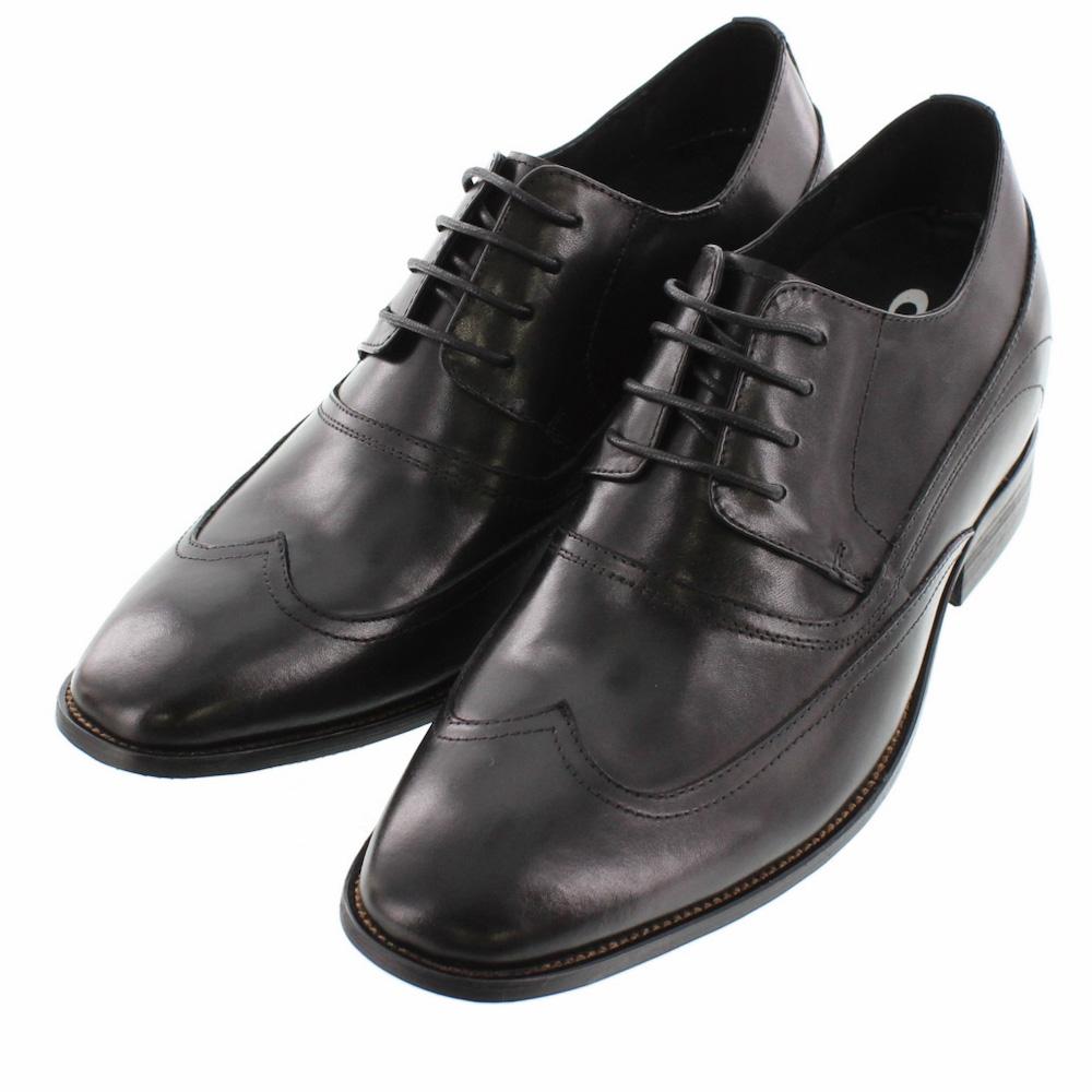 【8cmUP】 +8cmUP シークレットシューズ 8_biz_001 ビジネスタイプ ビジネスシューズ 靴 結婚式 本革 8cm背が高くなる シークレットブーツ シークレット メンズ ブラック 黒 紐靴