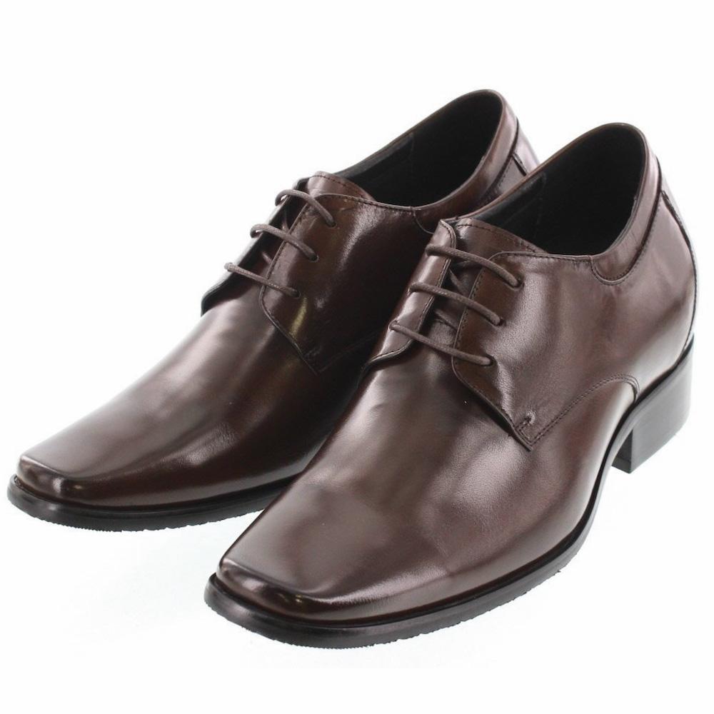 【8cmUP】+8cmUP シークレットシューズ 8_biz_003 ビジネスタイプ ビジネスシューズ 靴 結婚式 本革 7cm背が高くなる シークレットブーツ シークレット メンズ ダークブラウン 紐靴