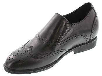 7cmUP7cmUP シークレットシューズ 7 biz 015 ビジネスタイプ ビジネスシューズ 靴 結婚式 本革 7cm背が高くなる シークレットブーツ シークレット メンズ ブラック 黒 スリッポンWD2EHY9I