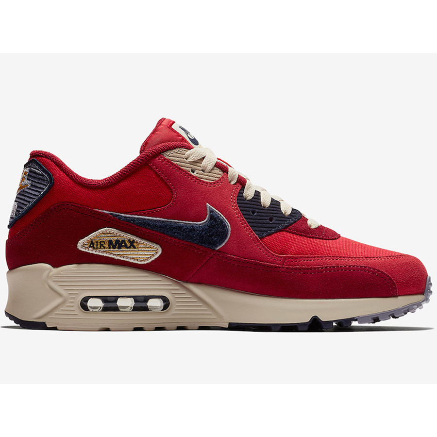 NIKE Nike AIR MAX 90 PREMIUM SE Air Max 90 premium special edition men gap Dis sneakers UNIVERSITY REDPROVENCE PURPLE university red Province