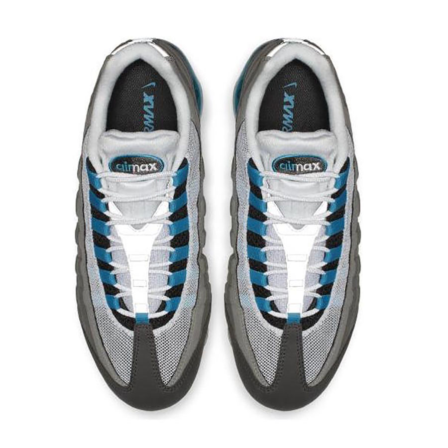 NIKE Nike AIR VAPORMAX '95 air vapor max 95 men's lady's sneakers BLACKNEO TURQMEDIUM ASHDARK PEWTER black neo turquoise medium Ashe dark