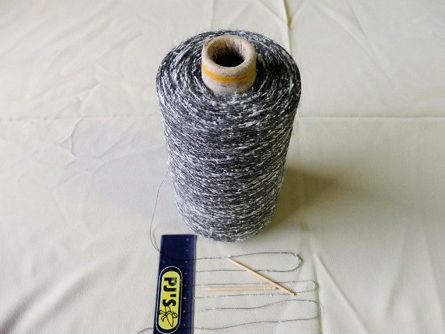 シルク ウール 市場 公式 スラブネップ糸15番手グレー 白系 10