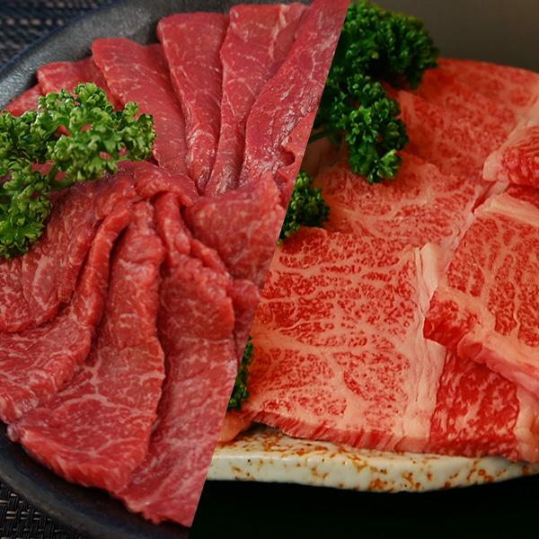 【送料無料】|但馬牛 カルビ&赤身焼肉セット 約800g(各約400g)