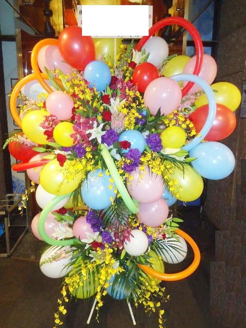 colorMIX!!! バルーンスタンド花2段 ※地域限定商品 東京23区・横浜・川崎(東京都下・神奈川・千葉・埼玉など近隣地域もOKですが一度お問い合わせ下さい)