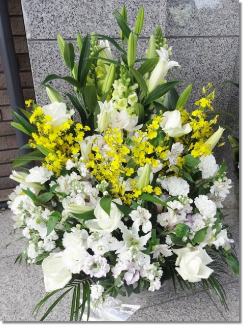 枕花アレンジ2L オンシ 18,000円税込