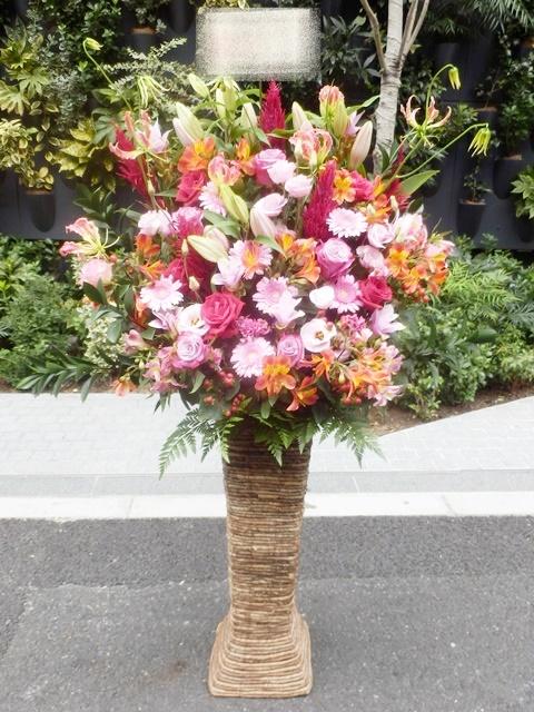 squareミディアムスタンド ピンク濃淡系 15000円 スタンド高さ75cm 色合い変更出来ます!