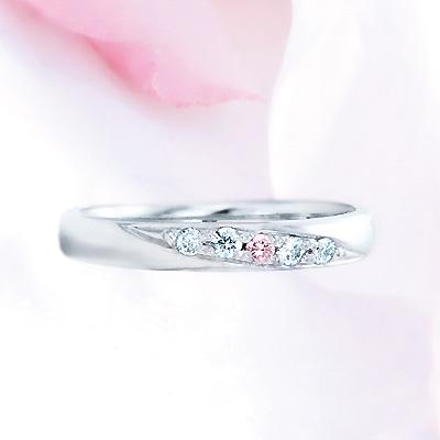 ピンクドルフィン結婚指輪 2-Lady's【11時のTeatime おしゃれ 大人 可愛い かわいい 誕生日 プレゼント レディース シンプル 大人っぽい お呼ばれ 上品 母の日 ジュエリーショップ】