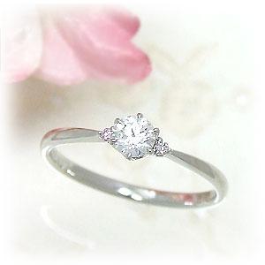 【特価】エンゲージリングにも♪ 両脇のピンクダイヤモンドが素敵★ プラチナ×0.2カラットアップのダイヤモンド指輪 ~ストレートライン~【11時のTeatime おしゃれ 誕生日 プレゼント レディース シンプル 大人っぽい お呼ばれ 母の日 ジュエリーショップ】
