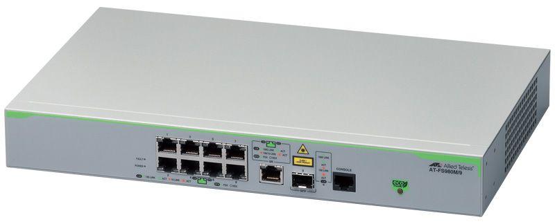 AT-FS980M/9 [10/100BASE-TXx8、10/100/1000BASE-Tx1(コンボ)、SFPスロットx1(コンボ)] 3302R