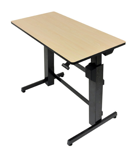 WorkFit-D 座位・立位 昇降デスク (バーチ) 24-271-928