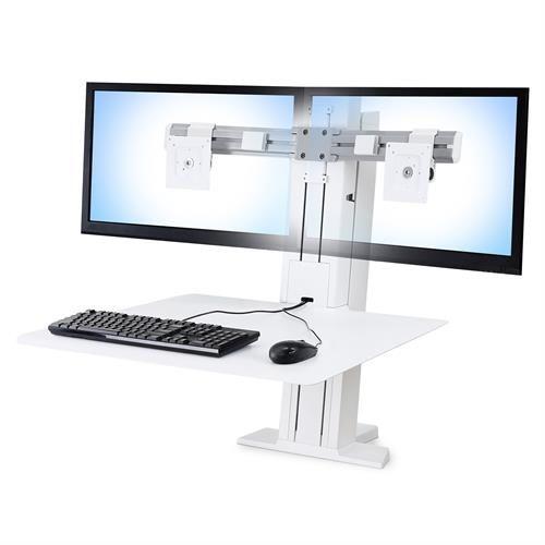エルゴトロン WorkFit-SR デュアルモニター 昇降式ワークステーション (ホワイト) 33-407-062