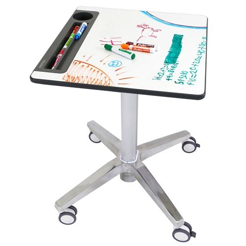 LearnFit with White Board、Sit-Stand Desk、Clear Anodized 24-756-003