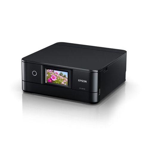 Colorio 多機能モデル EP-881AB(ブラックモデル/A4/有線・無線LAN/Wi-Fi Direct/4.3型ワイドタッチパネル/自動両面印刷/レーベルプリント/6色染料) EP-881AB