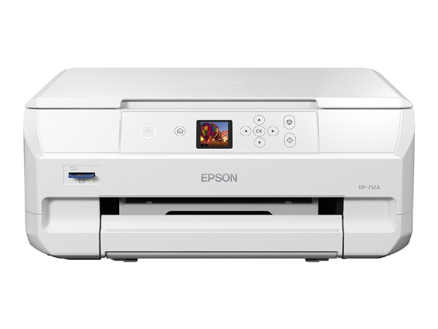 [Colorio]プリンター複合機 EP-712A(6色独立インクジェット/W-LAN/H-USB/A4/レーベル印刷/プリンター/スキャナー/コピー) EP-712A