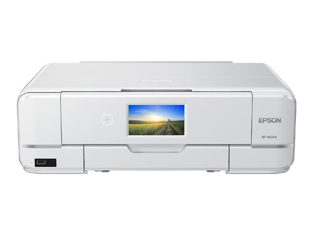 Colorio 多機能モデル EP-982A3(A3/有線・無線LAN/Wi-Fi Direct/4.3型ワイドタッチパネル/自動両面印刷/レーベルプリント/6色染料) EP-982A3