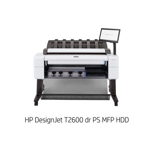 [DesignJet]大判プリンター複合機 T2600 dr PS MFP HDD(6色独立インクジェット/LAN/A0ノビ/ダブルロール+専用スタンド/スキャナユニット) 3EK15A#BCD