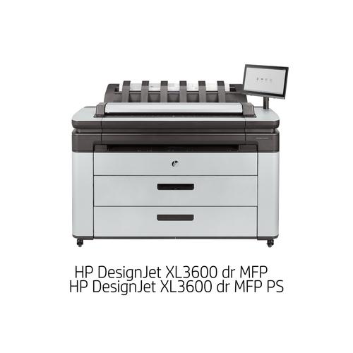 [DesignJet]大判プリンター複合機 XL3600 dr MFP(6色独立インクジェット/LAN/A0プラス/ダブルロール+専用スタンド/スキャナユニット) 6KD25A#BCD