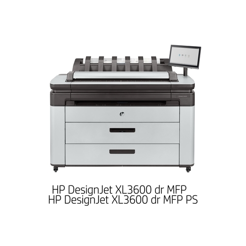 [DesignJet]大判プリンター複合機 XL3600 dr MFP PS(6色独立インクジェット/LAN/A0プラス/ダブルロール+専用スタンド/スキャナユニット/PSモデル) 6KD26A#BCD