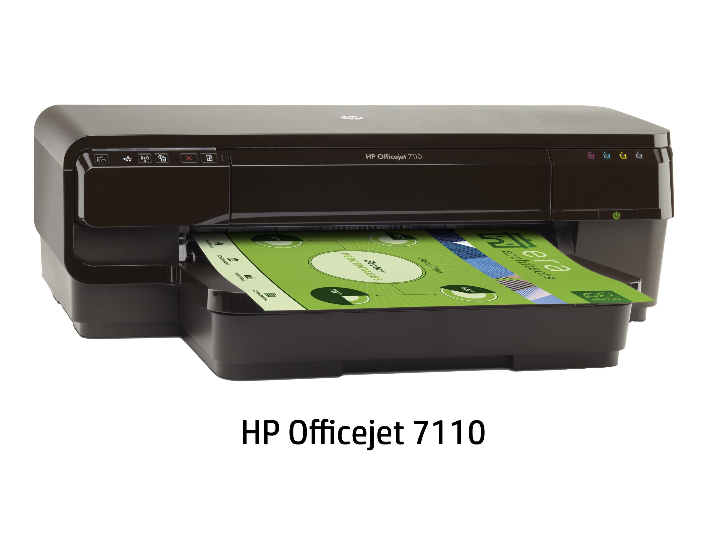 [Officejet]ビジネスプリンター 7110(4色独立インクジェット/LAN/W-LAN/USB2.0/A3プラス) CR768A#ABJ