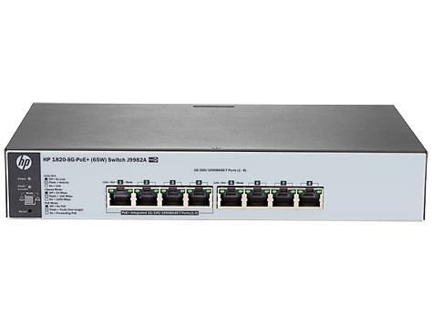 HPE OfficeConnect 1820 8G-PoE+ (65W) Switch J9982A#ACF