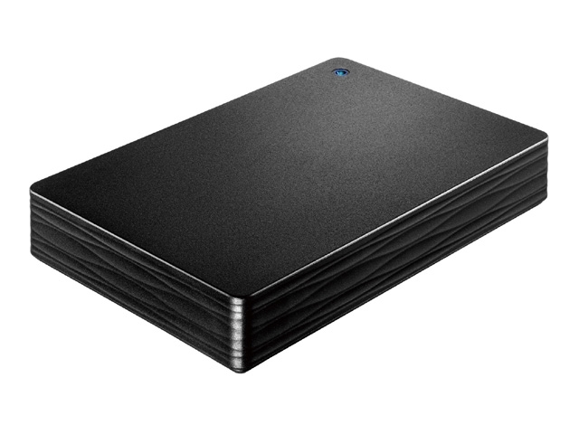 USB 3.1 Gen 1/2.0対応ポータブルハードディスク「カクうす Lite」ブラック 4TB HDPH-UT4DKR