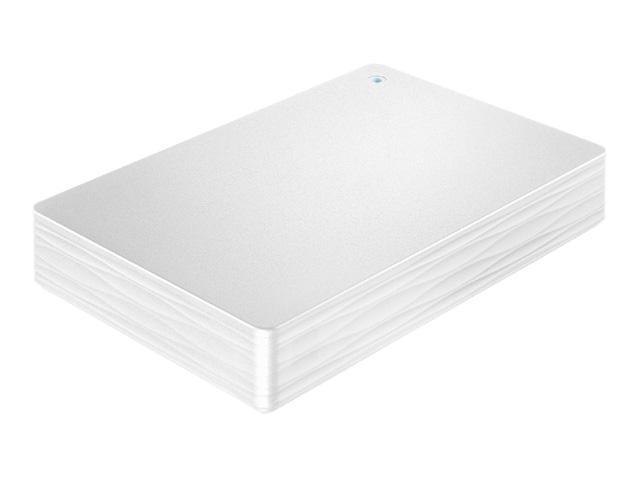 USB 3.1 Gen 1/2.0対応ポータブルハードディスク「カクうす Lite」ホワイト 2TB HDPH-UT2DWR