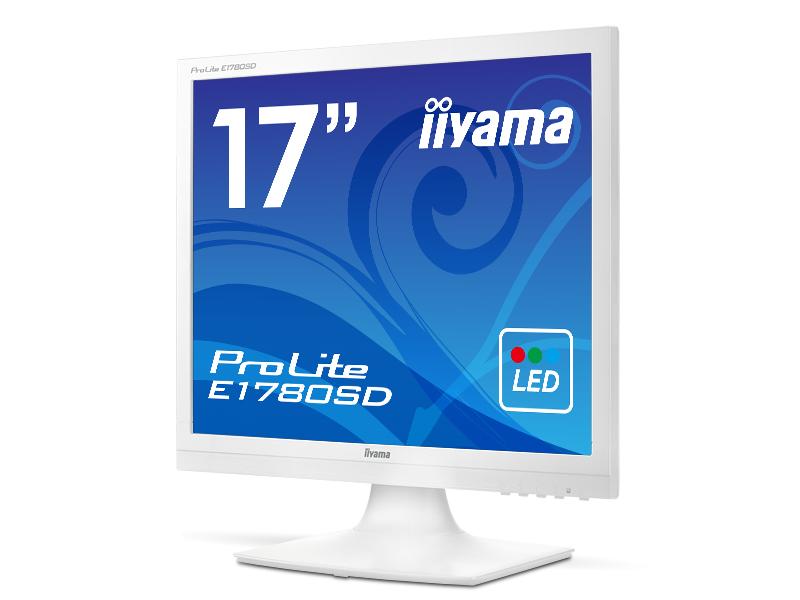 [ProLite]17インチ スクエア 液晶ディスプレイ(1280x1024/D-Sub15Pin/DVI/スピーカー/LED/ノングレア/TNパネル/ピュアホワイト) E1780SD-W1