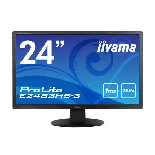[ProLite]24インチ ワイド 液晶ディスプレイ(1920x1080/D-Sub15Pin/DisplayPort/HDMI/スピーカー/LED/ノングレア/TNパネル/マーベルブラック) E2483HS-B3