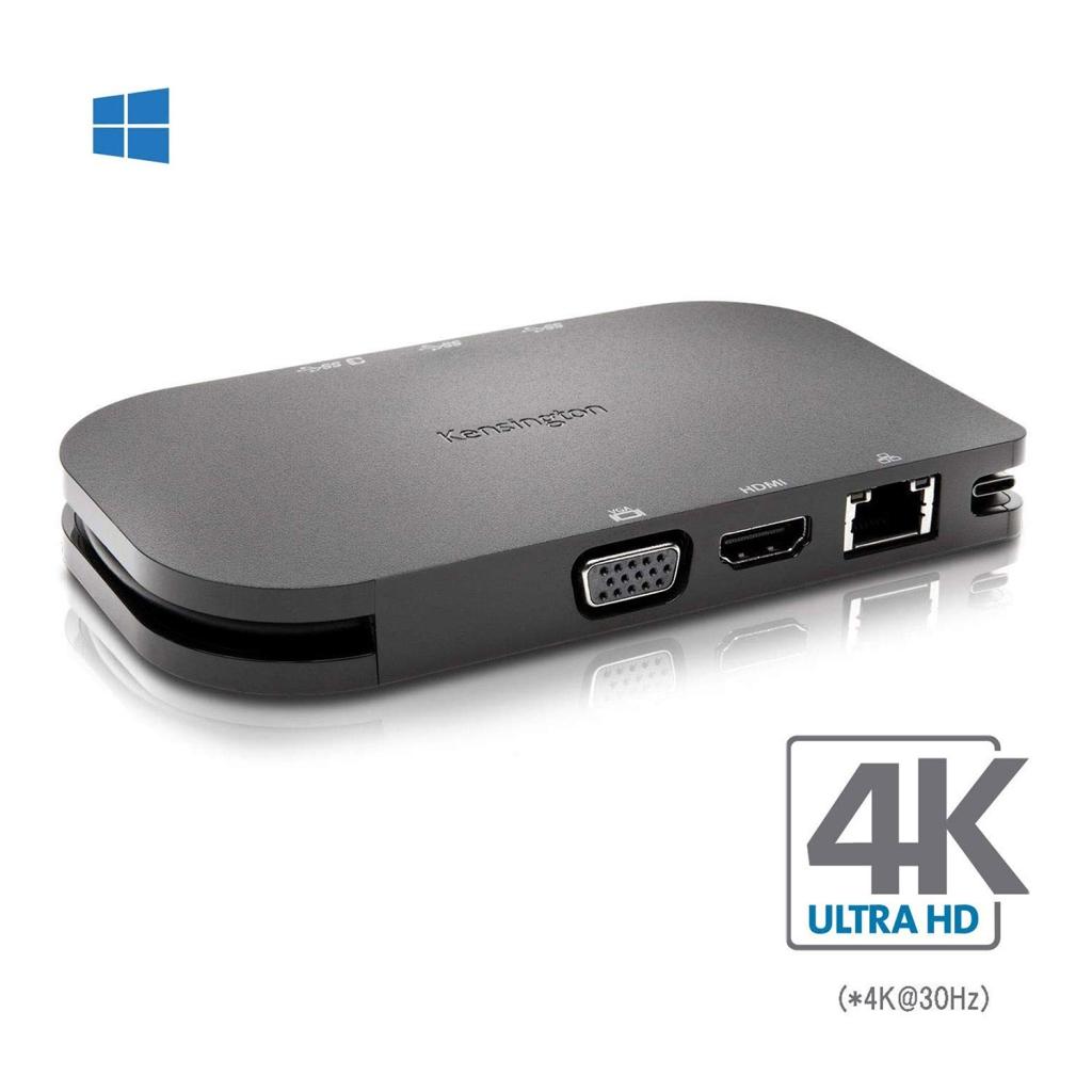 Kensington USB-C モバイル ドッキング ステーション (パススルー充電付き)Thunderbolt 3対応 SD1600P K33968JP