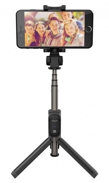 VAVA 時間指定不可 VA-ST001 新品未使用 2in1自撮り棒 セルフィースティック 三脚機能付 3.0 Bluetooth シャッターリモコン付 連続撮影30000枚