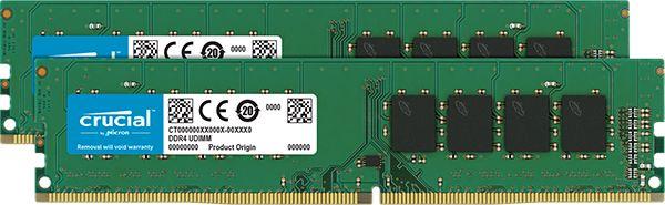 32GB Kit (16GBx2) DDR4 2666 MT/s (PC4-21300) CL19 DR x8 Unbuffered DIMM 288pin CT2K16G4DFD8266