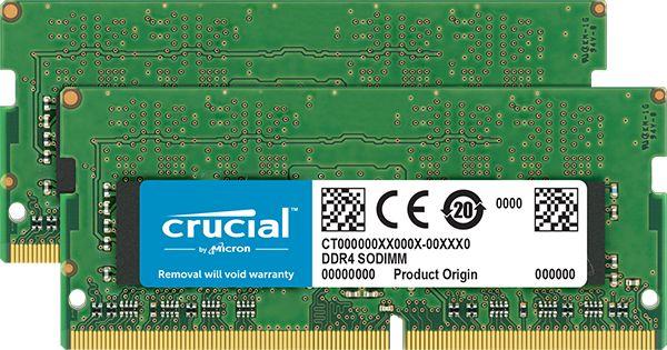 32GB Kit (16GBx2) DDR4 2666 MT/s (PC4-21300) CL19 DR x8 Unbuffered SODIMM 260pin CT2K16G4SFD8266