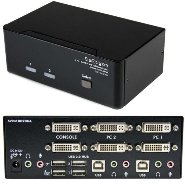 超人気の 2ポート デュアルDVIディスプレイ対応USB接続KVMスイッチ オーディオ対応/2x/PCパソコンCPU切替器(3.5mm ミニジャック SV231DD2DUA オーディオ対応/2x USB2.0ハブ付) 解像度1920x1200(DVI-D対応ケーブル使用時) 2ポート SV231DD2DUA, 高品質の激安:922b8458 --- zhungdratshang.org