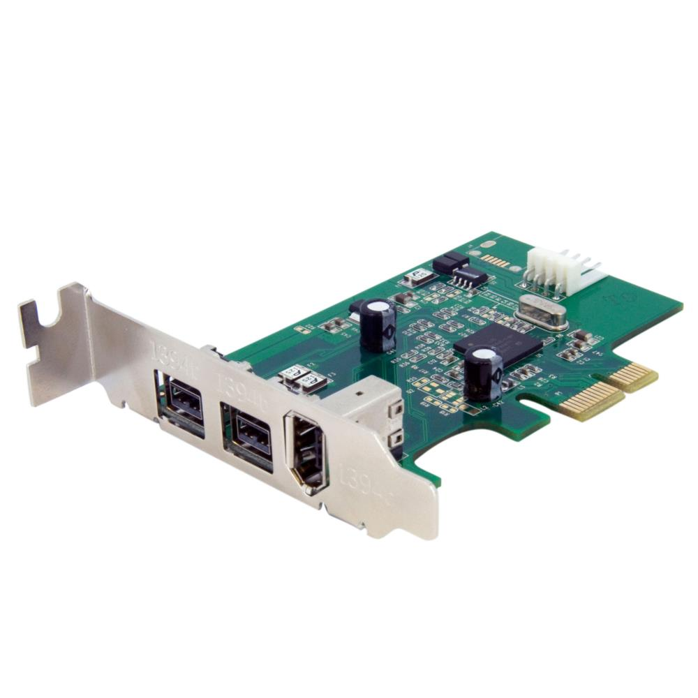 PEX1394B3LP ロープロファイル対応IEEE 1394a 1ポート/1394b 2ポート増設PCI Expressカード 9ピンFireWire 800 x2/6ピンFireWire 400 x1対応 内部電源コネクタ搭