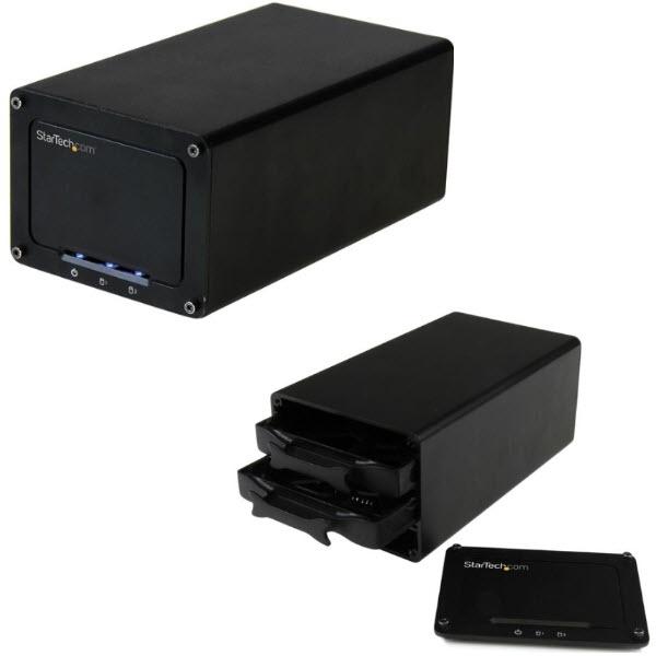 2x 2.5インチSATA SSD/HDDドライブ外付けケース USB 3.1Gen 2(10 Gbps)対応 RAID対応 USB-C/USB-Aポート搭載コンピュータと接続可能 S252BU313R