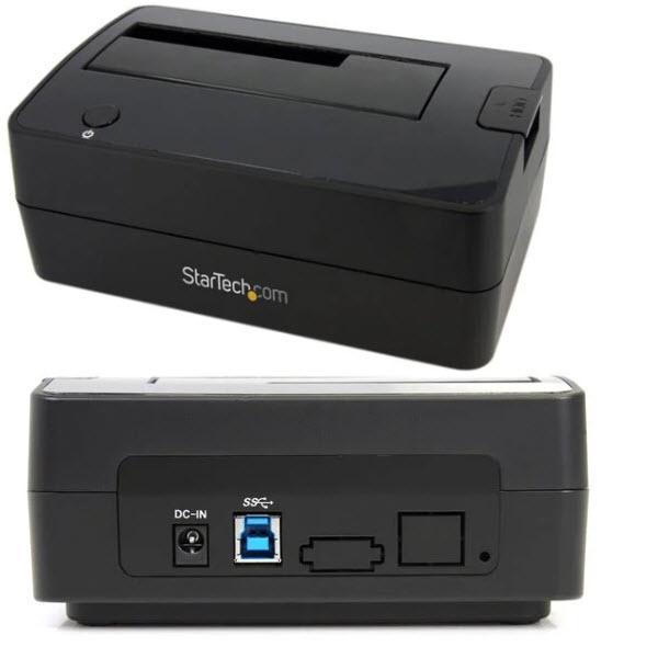 USB3.0接続SATA 2.5/3.5インチHDD/SSDドッキングステーション/リーダーライター(クレードル式) SATDOCKU3S