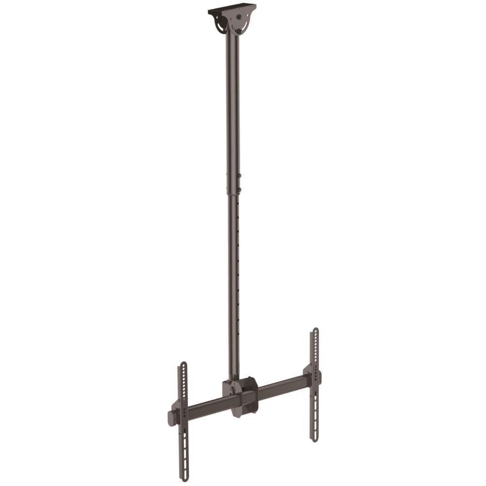 薄型液晶テレビ天吊り金具 天井からの距離を1060mmから1560mmに調節 32インチから75インチTVに対応できる天吊りハンガー VESAマウント規格サポート FLATPNLCEIL