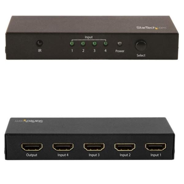 4入力1出力HDMIディスプレイ切替器/スイッチャ―/セレクター 自動切替機能付き Ultra HD 4K/60Hz対応 リモコン付属 VS421HD20