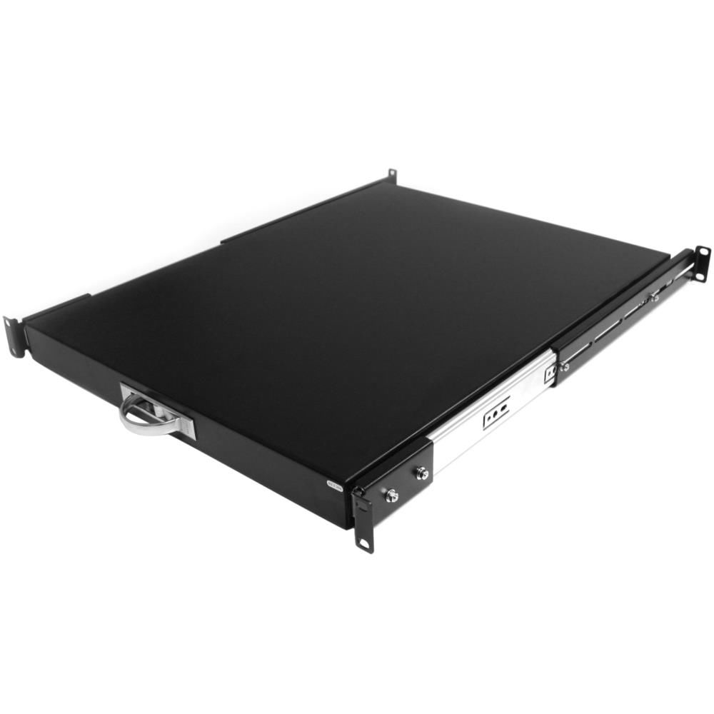 1U スライド式サーバラックマウント棚板 奥行き559mm 許容荷重25kg SLIDESHELFD