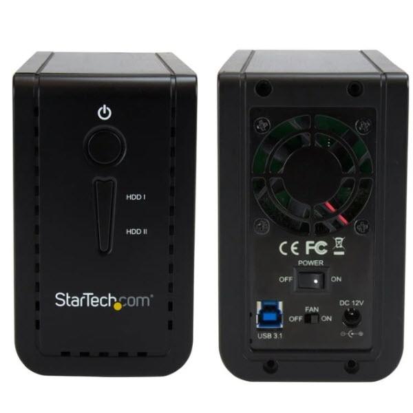 お見舞い StarTech.com S352BU313R 2x 3.5インチSATA SSD HDDドライブ外付けRAIDケース USB 爆買い新作 10Gbps 2 USB-A接続に対応 3.1Gen 対応 USB-C