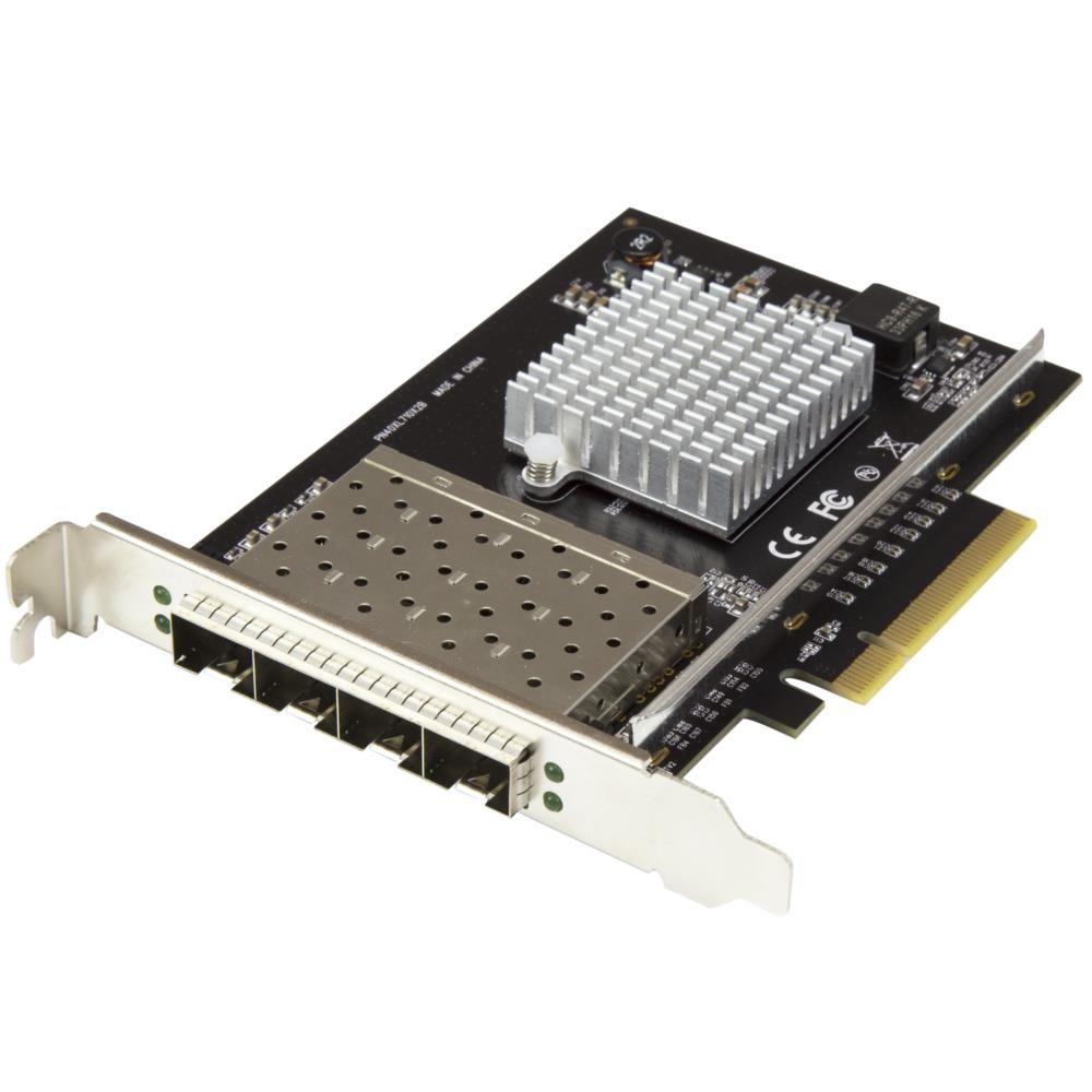 PEX10GSFP4I 10ギガビットイーサネット対応4ポートSFP+搭載光ファイバーネットワークカード PCI Express接続 Intel XL710チップ搭載 10GbE対応4x SFP+搭載LANカ