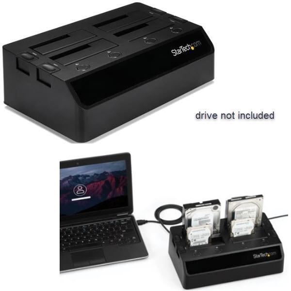 ハードディスク4台搭載ドッキングステーション USB 3.0接続 クレードル型2.5/3.5インチHDD/SDDスタンド SATA(6Gbps) UASP対応 冷却ファン2基搭載 SDOCK4U33