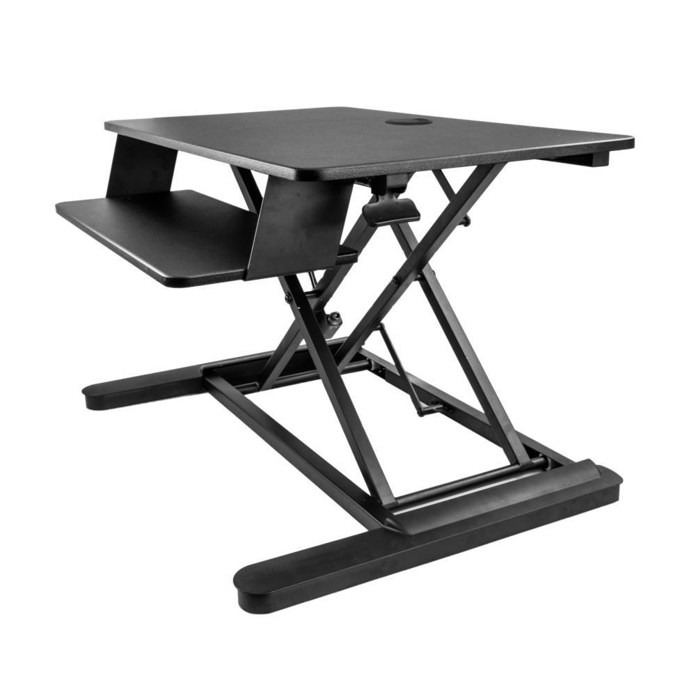 昇降デスク 立位・座位ワークステーション 900mm x 530mmの作業面積 24インチモニタ2台積載可能 昇降式リフティングテーブル ARMSTSLG